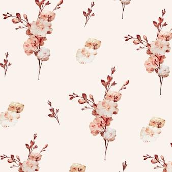 ヴィンテージ花の背景イラストベクトル