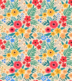 Vintage floral background. seamless vector pattern for design and fashion prints.e.
