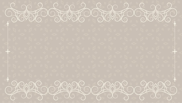 Vintage floral background with text space