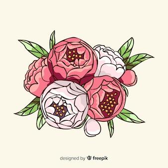 Vintage floral bouquet background