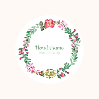 Vintage floral frame with beautiful flowers and leaves