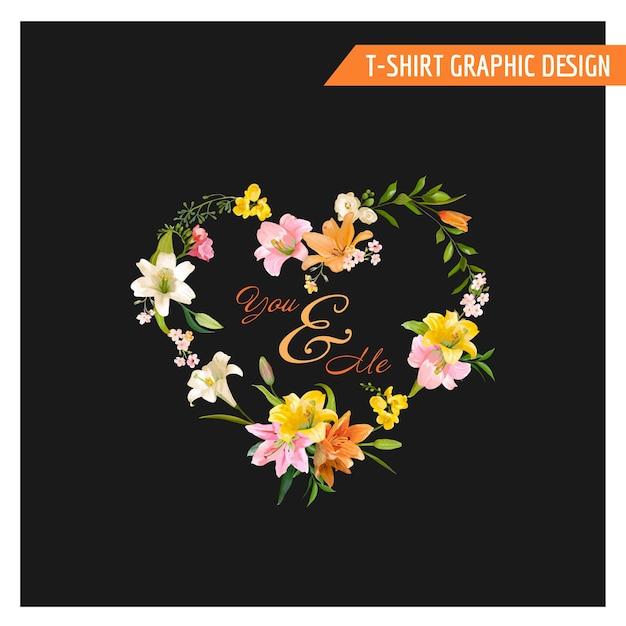 ヴィンテージ花柄グラフィック デザイン