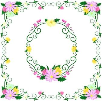 花咲くハイドレレンジ花のヴィンテージ花挨拶カード