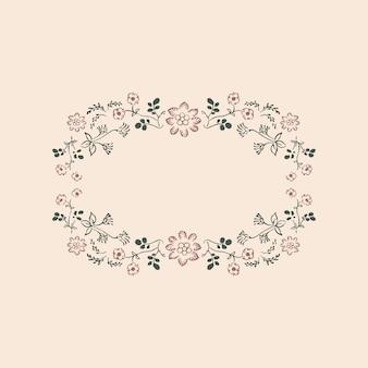 Vintage floral ornament frame