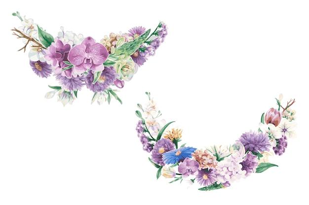 Винтажные цветочные орнаменты