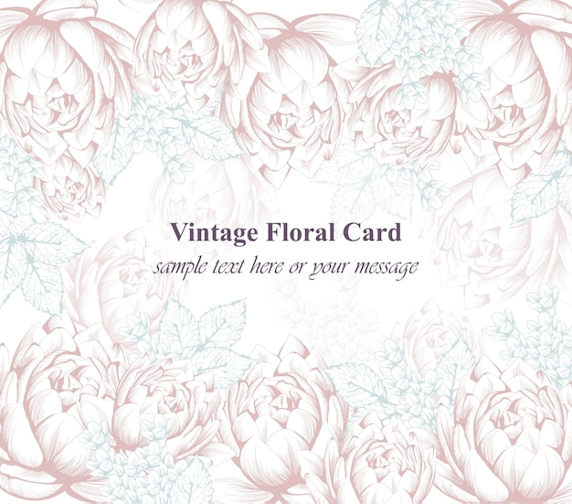 Vintage floral pattern background decors