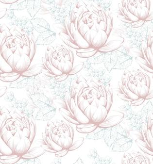 Vintage floral pattern background