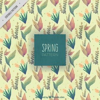 봄 빈티지 꽃 패턴