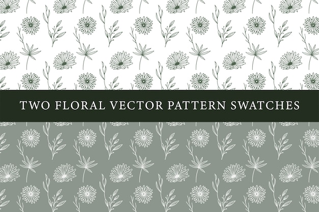 Vintage floral pattern swatches