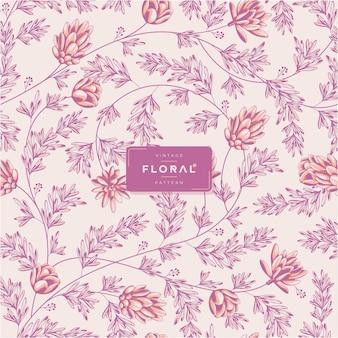 Vintage floral pattern vector template