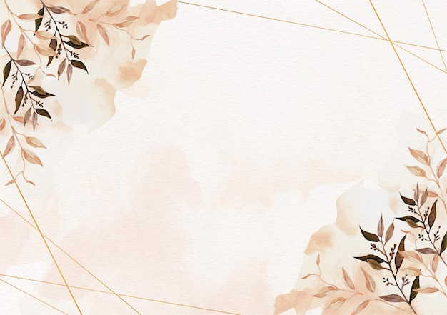 Vintage of floral and splash watercolor background