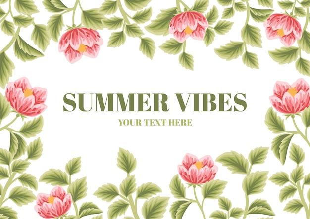 Vintage floral summer frame