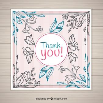 빈티지 꽃 감사 카드