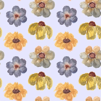 ヴィンテージ花柄水彩シームレスパターン