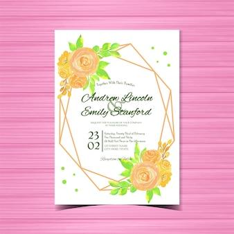 빈티지 꽃 결혼식 또는 초대 카드
