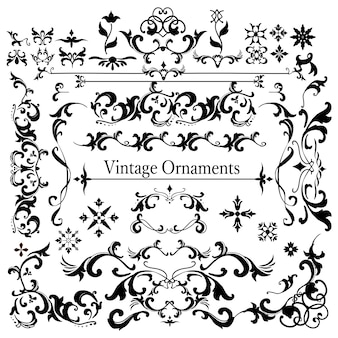 Vintage flourish ornament frame vector