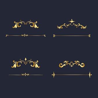 Vintage flourish ornament frame vector