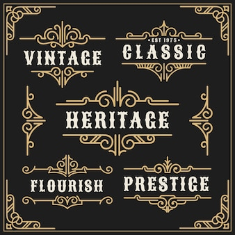 Vintage flourishes vine frame and luxurious calligraphy decorative frame