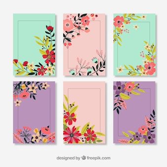Vintage Flower Decorated Cards