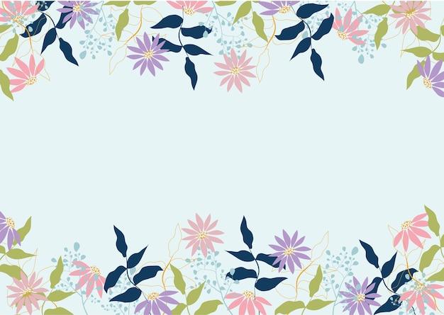 Vintage flower frame background