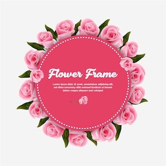 Vintage flower frame vector illustration