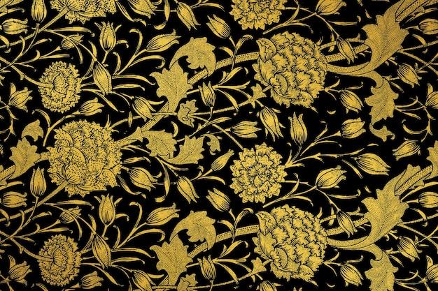 ウィリアム・モリスのアートワークからのヴィンテージの花柄のリミックス