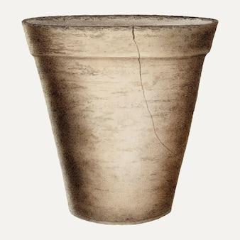 Illustrazione vettoriale di vaso di fiori vintage, remixata dall'opera d'arte di annie b. johnston