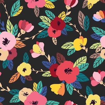 빈티지 꽃 완벽 한 패턴입니다. 부드러운, 봄 배경입니다.
