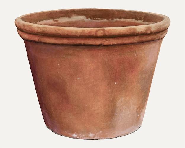 Clarence w. dawson의 작품에서 리믹스된 빈티지 꽃 항아리 벡터 일러스트레이션