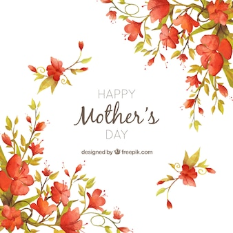 Vintage flower watercolor background of mother's day