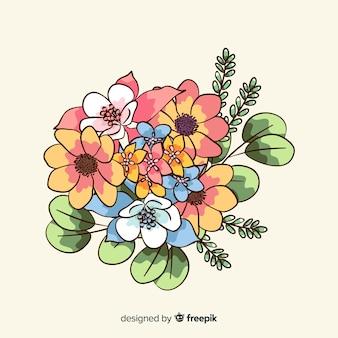 Vintage flowers bouquet wallpaper