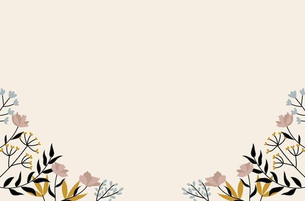 Винтажная цветочная рамка и фоновая иллюстрация