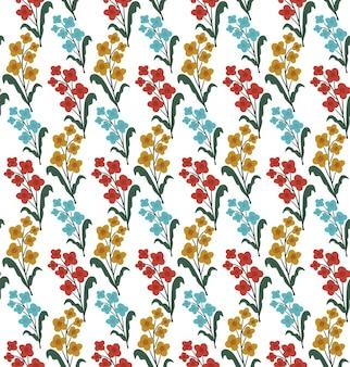 빈티지 꽃 원활한 패턴, 트렌디한 인쇄. 꽃 반복 질감, 배경입니다. 벡터 일러스트 레이 션