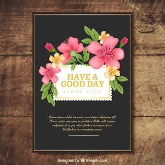 Vintage flowery card