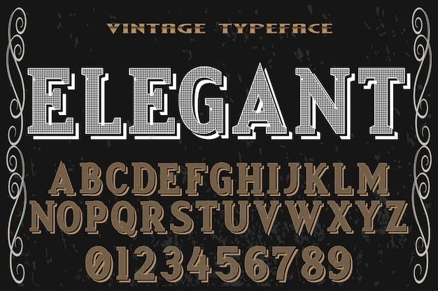 Vintage font alphabet handcrafted vector named  elegant
