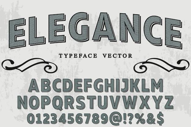 Vintage font label design elegance