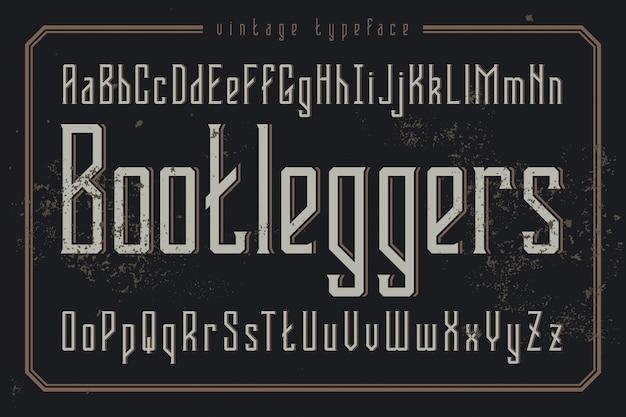 빈티지 글꼴 세트