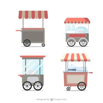 Vintage food carts
