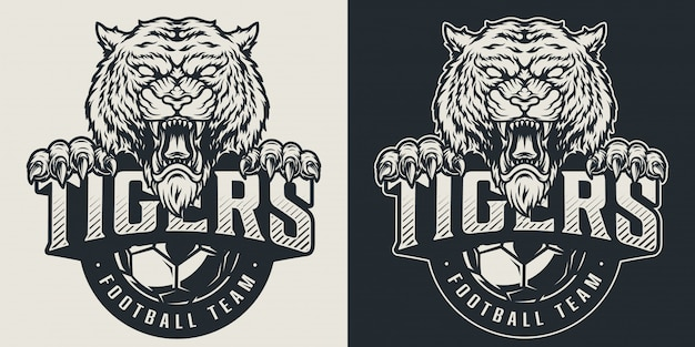 Vintage football team logotype