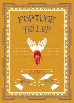 Vintage fortune teller poster