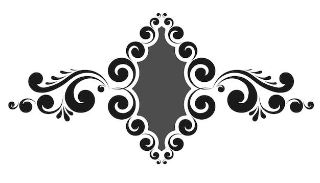 Винтажная рамка для вензеля с цветочным орнаментом