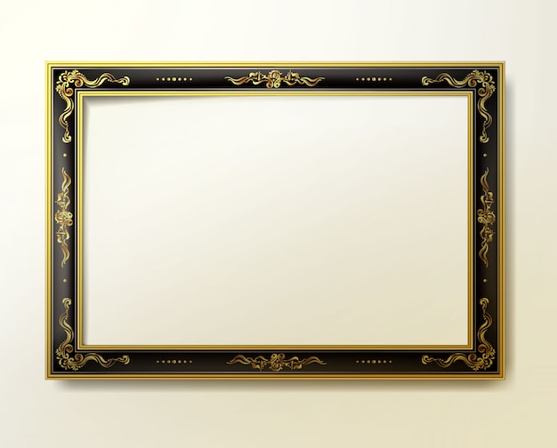 Vintage frame and border