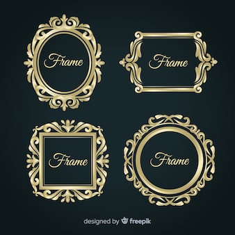 Vintage frame business collection template Premium Vector