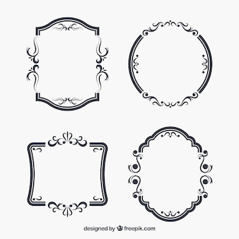 Vintage frame collection with different ornaments