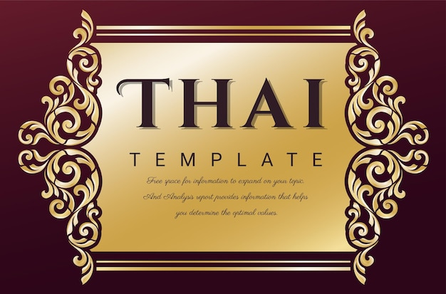 Vintage frame for invitations thai traditional