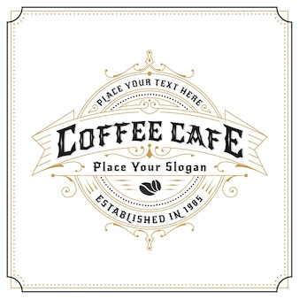 Vintage frame logo design for labels, banner, sticker and other design. suitable for coffee cafe, restaurant, whiskey, wine, beer and premium product