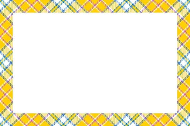 빈티지 프레임. 스코틀랜드 국경 패턴 복고 스타일. 타탄 체크 무늬 장식.