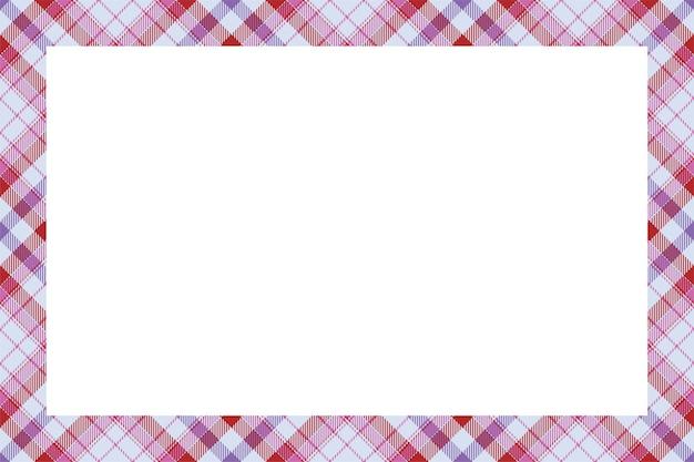 빈티지 프레임. 스코틀랜드 국경 패턴 복고 스타일.