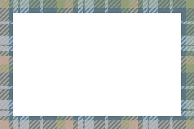 빈티지 프레임입니다. 스코틀랜드 국경 패턴 복고 스타일