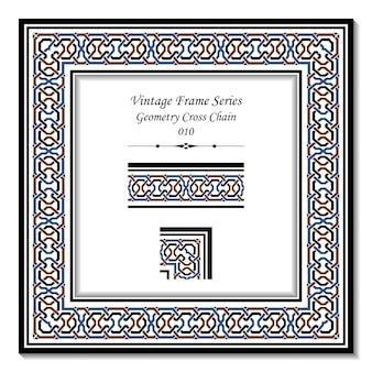 Винтажная рамка серии geometry cross chain